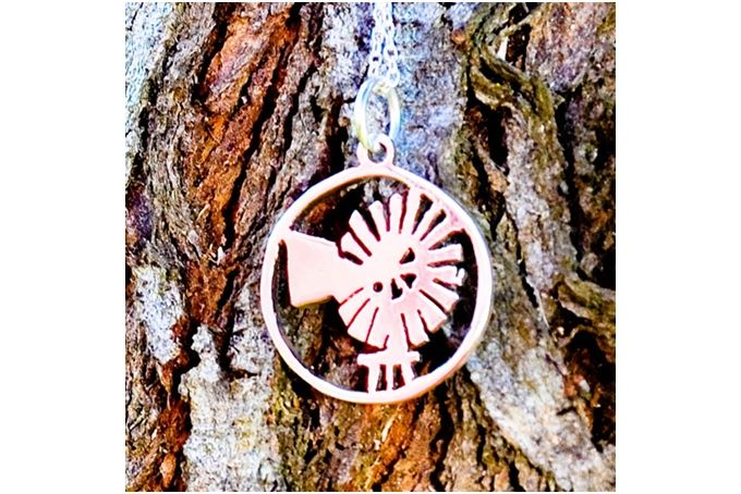 Sterling Silver WIndmill pendant by GloveJewellery