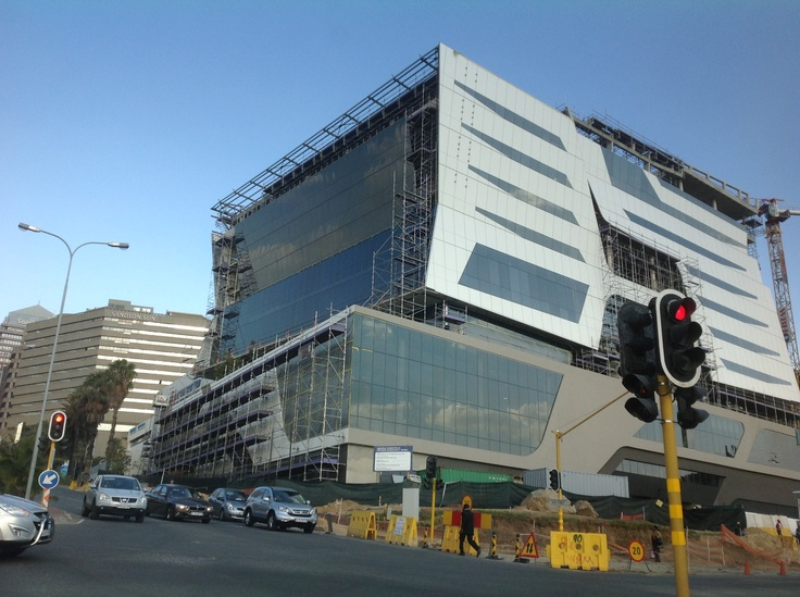 New building going up Sandton