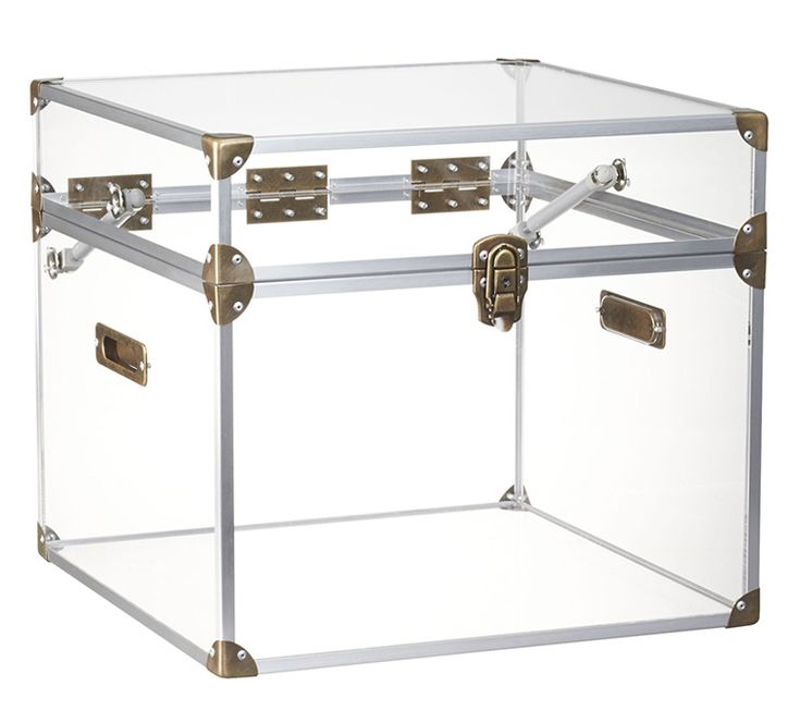 A transparent storage chest that not only lets you conveniently know what's inside, it also fits into any decor.