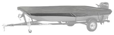 Bass Pro Shops Select Fit Hurricane Boat Covers for Aluminum Jon Boats with Outboard - Grey - 78''