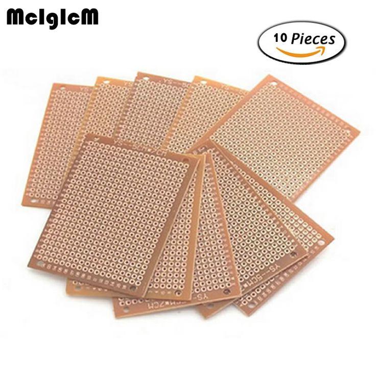 MCIGICM 10Pcs high quatity!! new Prototype Paper Copper PCB Universal Experiment Matrix Circuit Board 5x7cm Brand
