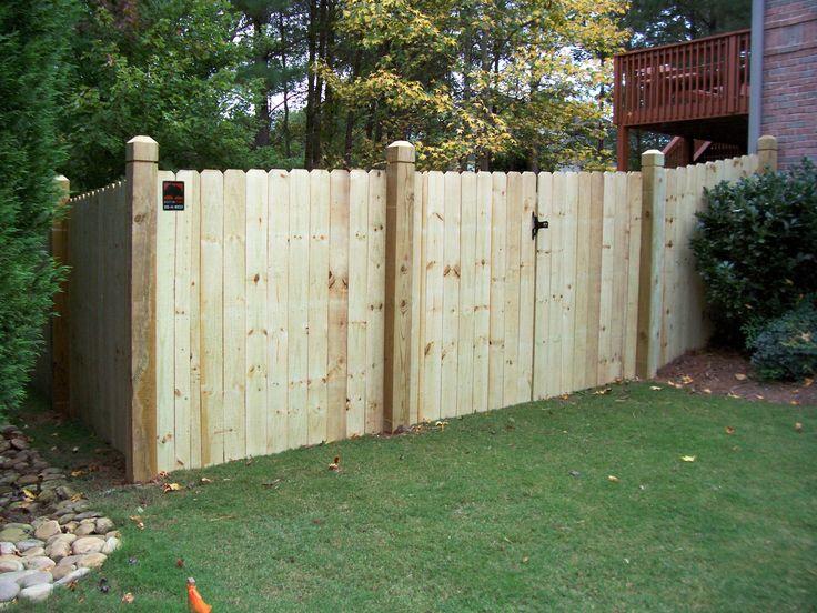 Wood Board On Board Backyard Fence Mossy Oak Fence