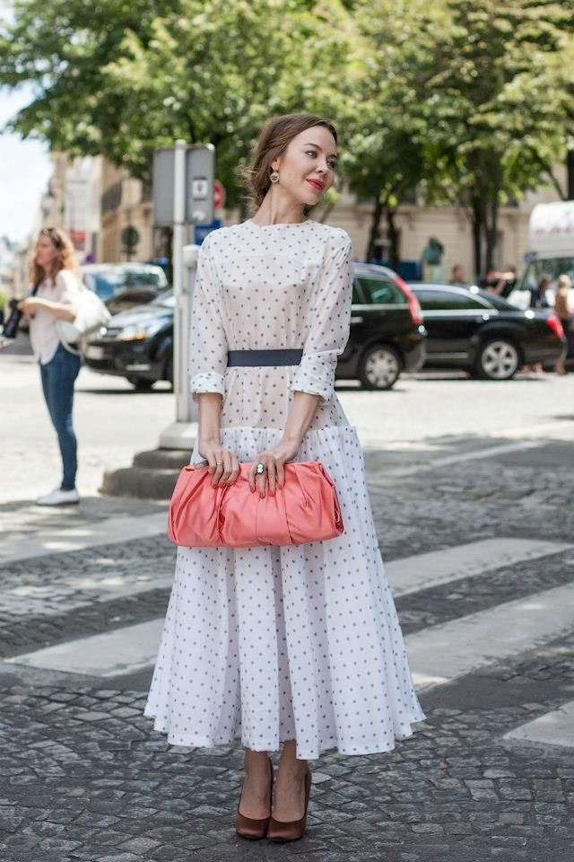 topshop street style looks from sweet graceful polka dots Paris Couture