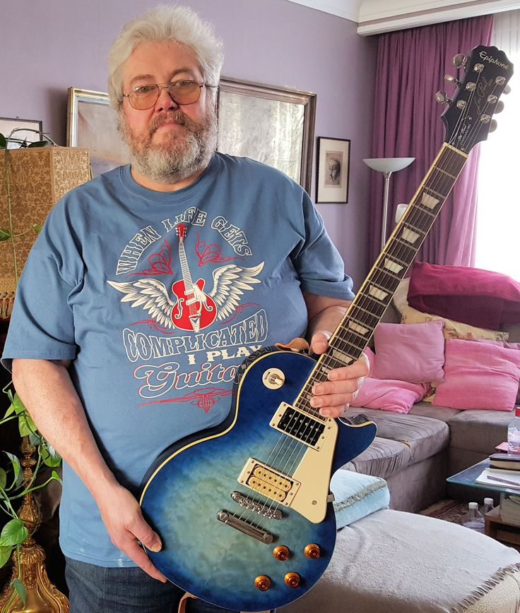 """My Epiphone """"BO"""" LP Std AAA Quilt Top Pro with DiMarzio DP-100 & S.Duncan SH-4 JB bought early 70' begin 80'"""