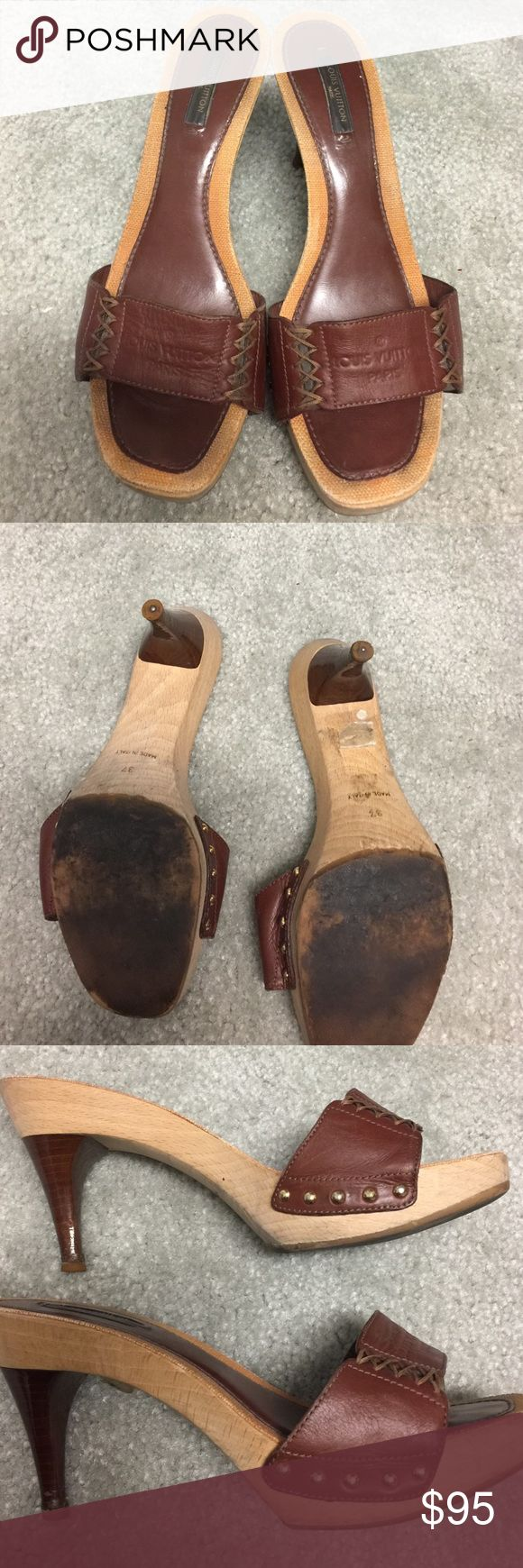 100% Louis Vuitton shoes Used true to size 37 made Italy no box or recibe Louis Vuitton Shoes Heels