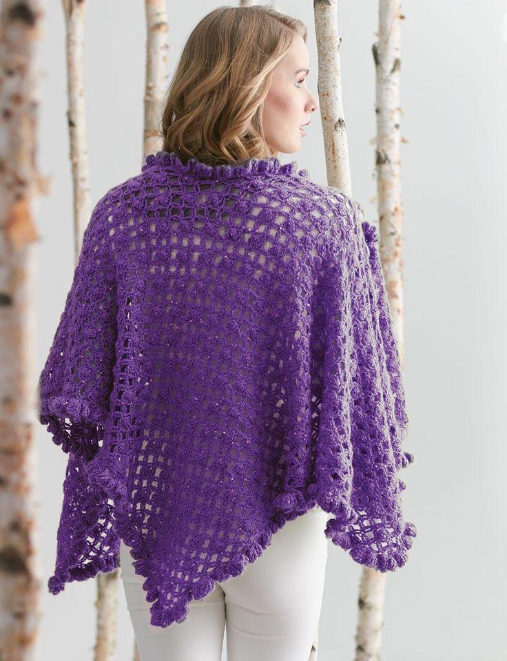 Patons Free Crochet Shawl Patterns : Yarnspirations.com - Patons Ruffle Edge Wrap - free ...