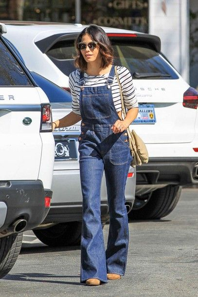 flea market flare overalls in patton wash by Madewell