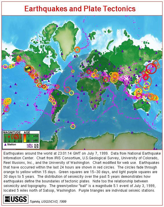 map earthquakes world   Map, Earthquakes and Plate Tectonics