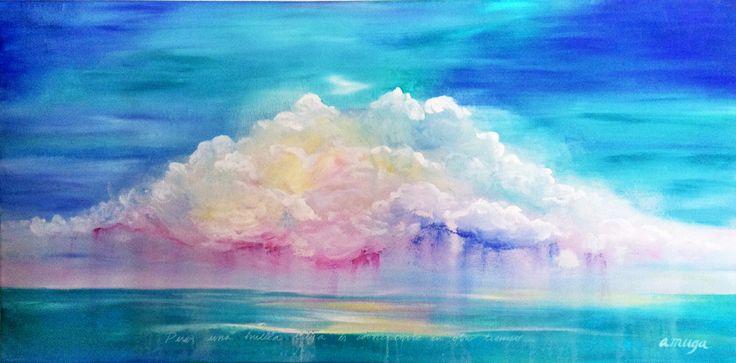 """""""Coincidirte"""" ANDREA MUGA Acrylic on canvas 130x40cm 135.000 CLP"""