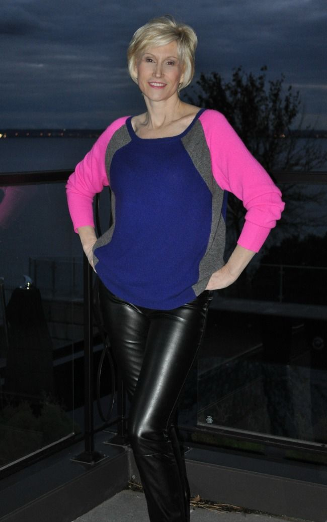 How To Wear Black Leather Leggings At 40, 50 And Beyond -8354