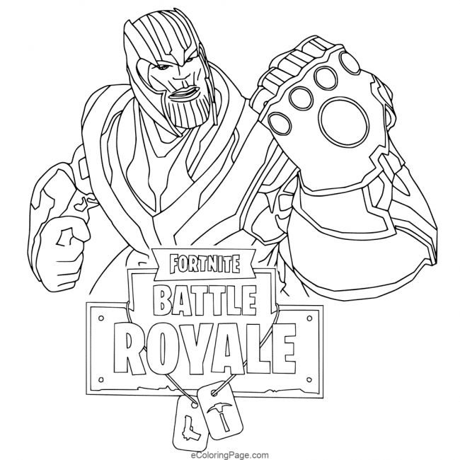 Fortnite Thanos Printable Coloring Page Coloring Pages