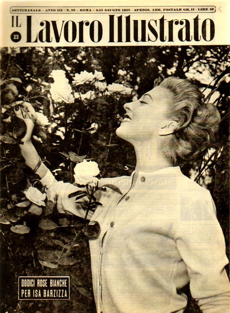"""Twelve white roses for Isa Barzizza"" (8th June 1952)."