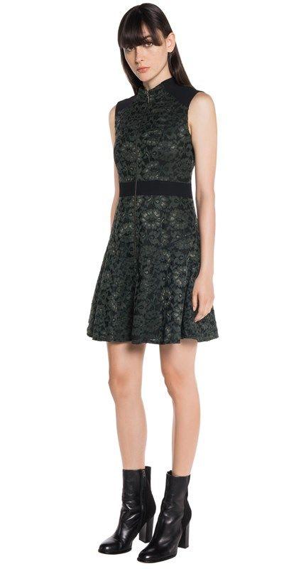 CUE - Fine Lace Spliced Dress