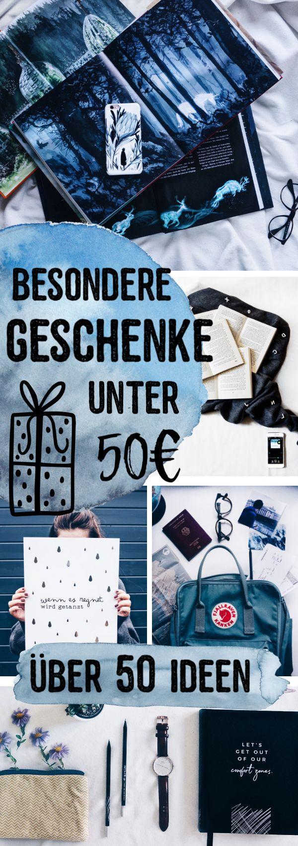 Besondere Geschenke unter 50€ – 50 Ideen für Weihnachten, Geburtstag & mehr