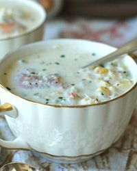 Corn, Crab and Shrimp Chowder Recipe from Food & Wine - this sounds like a great supper for a cool fall evening