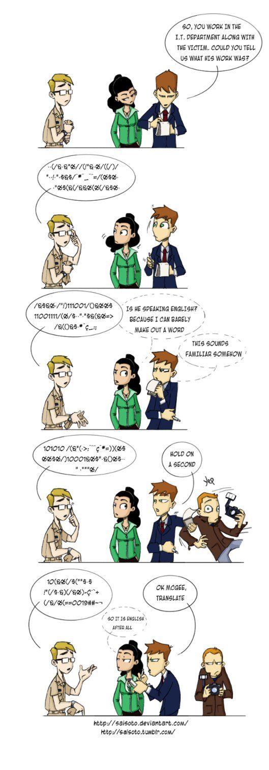 NCIS - Geek Speak by *Saisoto on deviantART