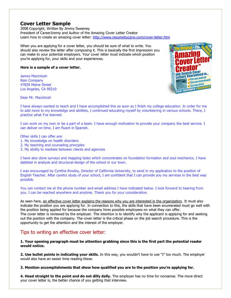 45 best Hire me !!! images on Pinterest Cover letter example - resume cover letter generator