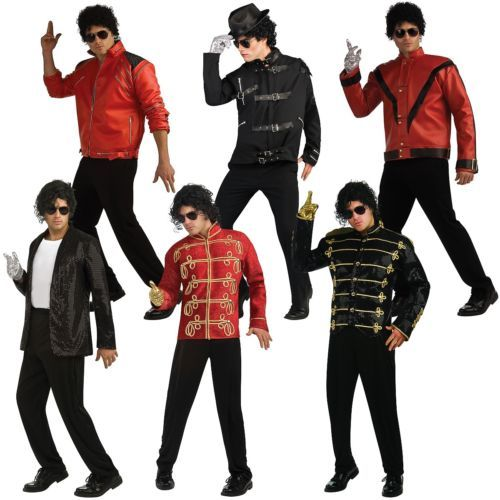 Men Costumes: Michael Jackson Costume Jacket Adult 80S Pop Star Halloween Fancy Dress -> BUY IT NOW ONLY: $41.69 on eBay!