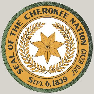 This is the seal of the great Cherokee Nation. It represents pride and dignity.