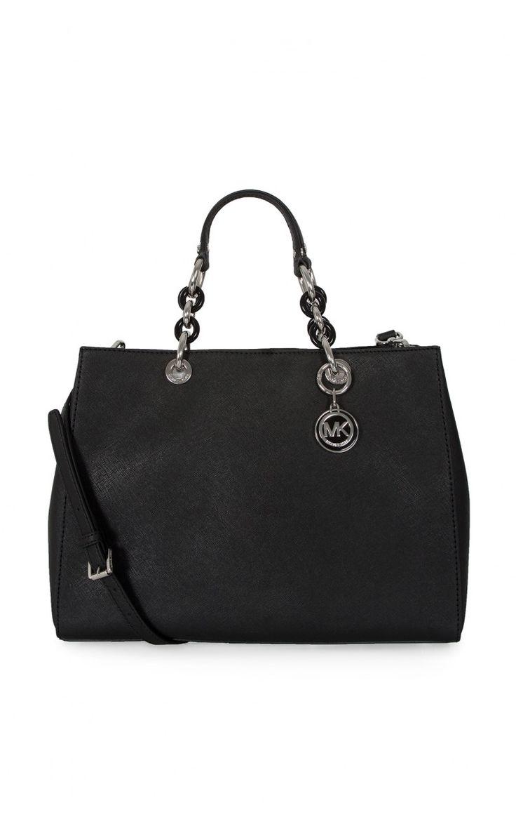Handväska Cynthia LG Satchel BLACK/SILVER - trendy in black ss15 - Raglady