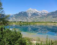 Chemin des berges du Rhône Hindernisvrije wegen in Zwitserland