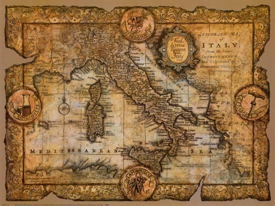 Map of Italy Art Print by John Douglas at Art.com