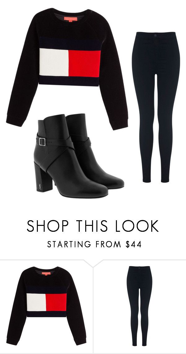 """day"" by juliadb on Polyvore featuring Hilfiger Collection, Miss Selfridge and Yves Saint Laurent"