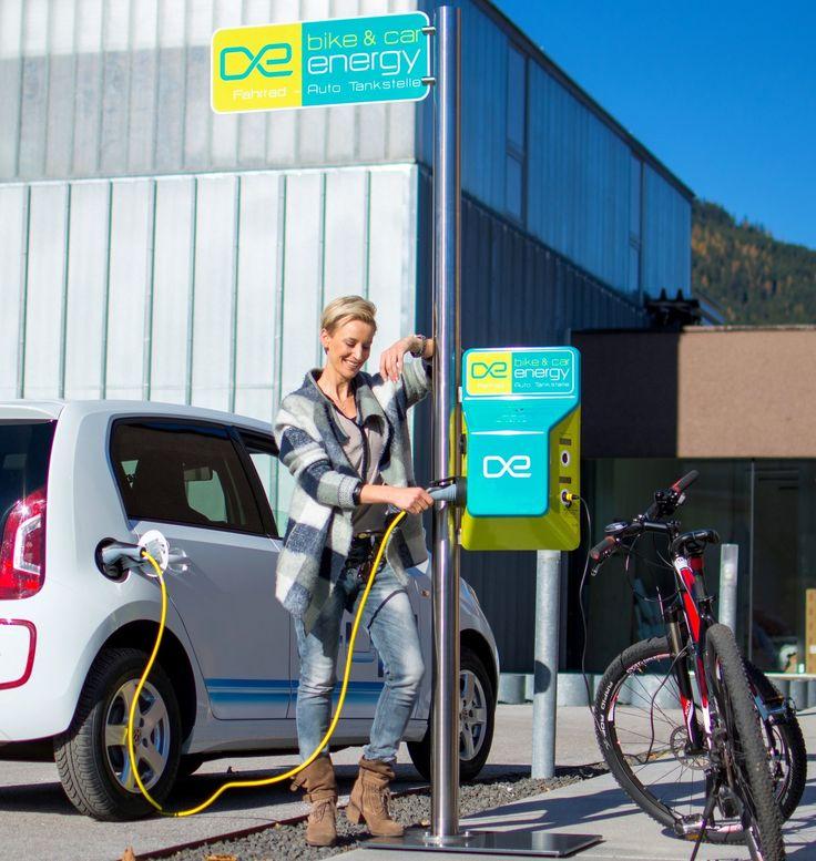 E-Bike Ladestation, Fahrrad, Energie tanken, eMobilität, Infrastruktur, Sport, eCar, Elektroauto