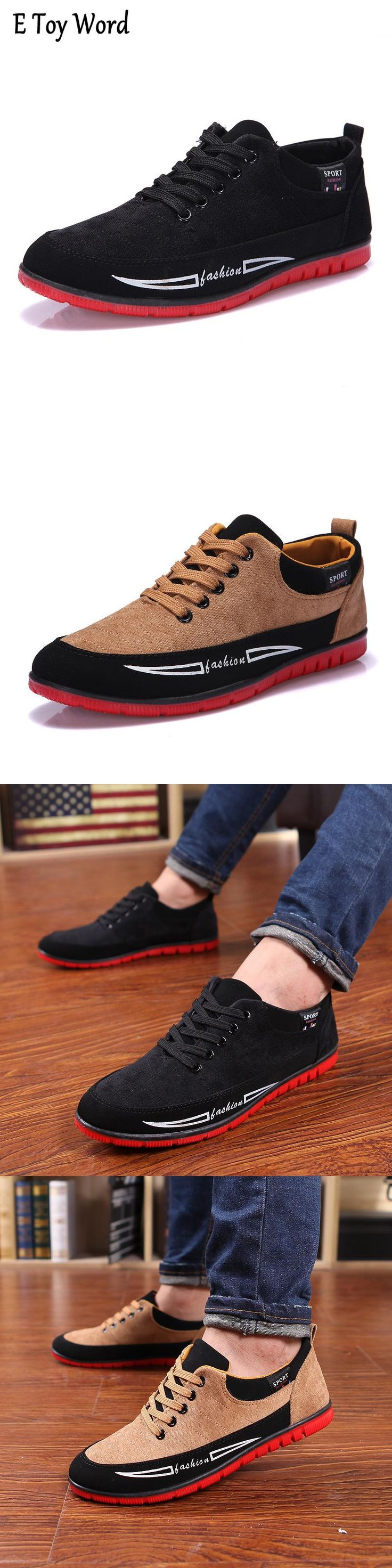 Hommes Canvas Sport Sneakers Summer Fashion Washed Homme Chaussures plates Casual dIdaSXq