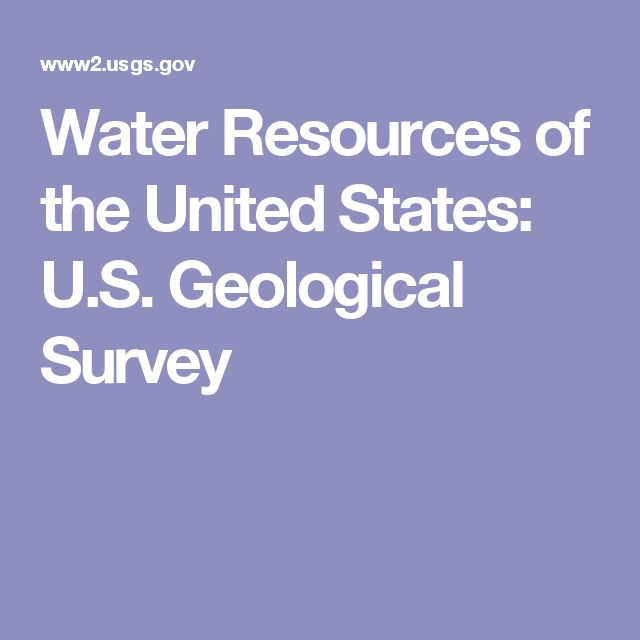 Water Resources of the United States: U.S. Geological Survey