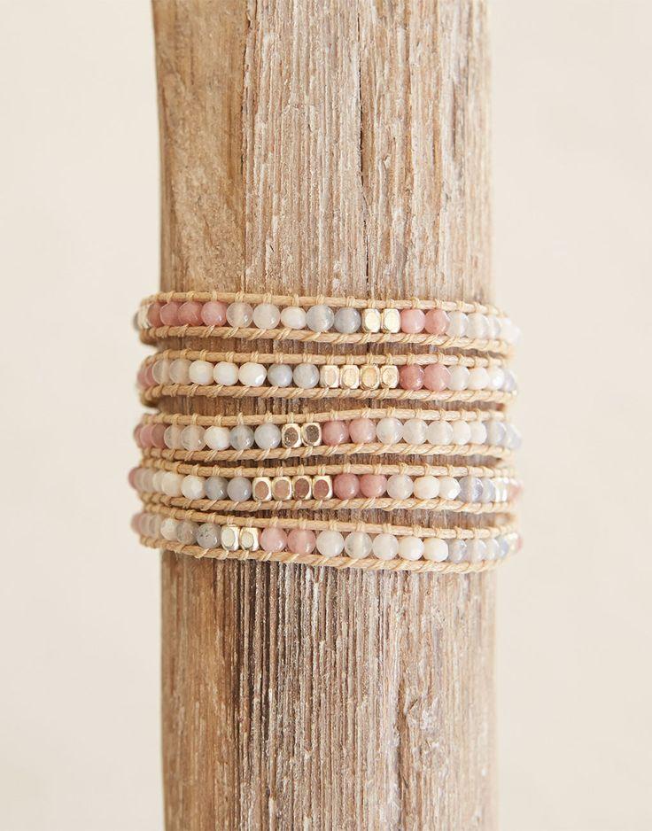 The Little Market Stone + Crystal Wrap Bracelet