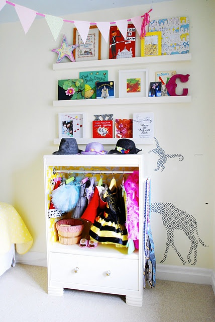 Dress up station made out of a dresser!