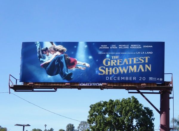 The Greatest Showman film billboard Ventura Boulevard