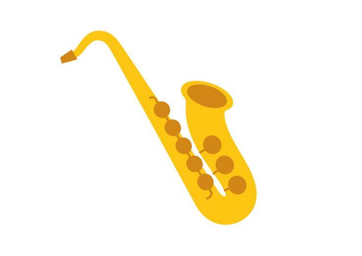 Saxophone Flat Vector