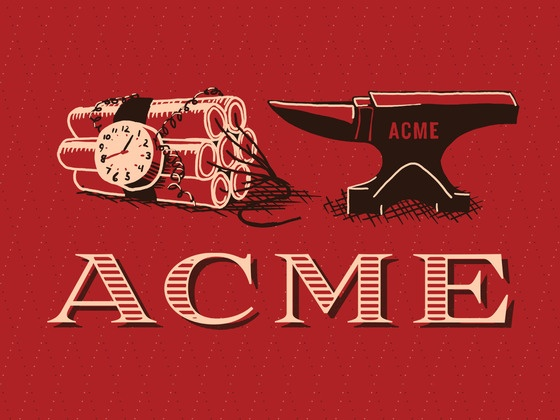 Rob Loukotka's Kickstarter project -- a giant poster of every gadget by the ACME Corporation that has appeared in the Road Runner cartoons.