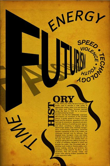 Futurism Poster by tomhuteson, via Flickr