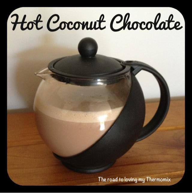 """I made some yummy """"coconut rough"""" chocolates today as gifts and had a little chocolate left over in my bowl. Not wanting to waste it I turned it into a yummy ho"""