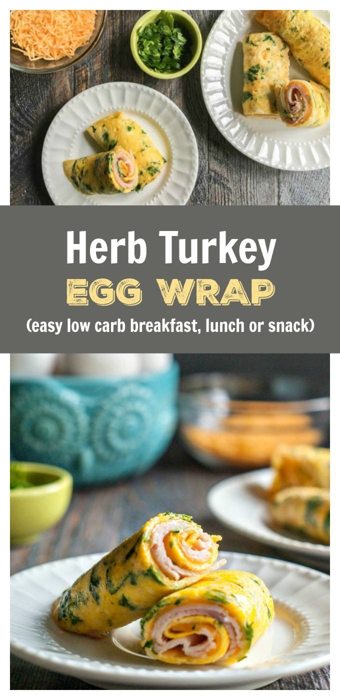 Herb Turkey Egg Wrap - low carb breakfast, lunch or dinner!