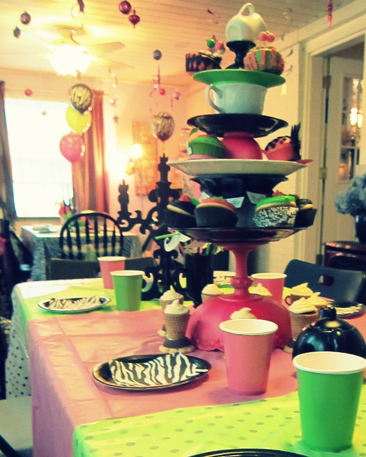 32 best images about halloween tea 2013 on pinterest - Mad hatter tea party decoration ideas ...