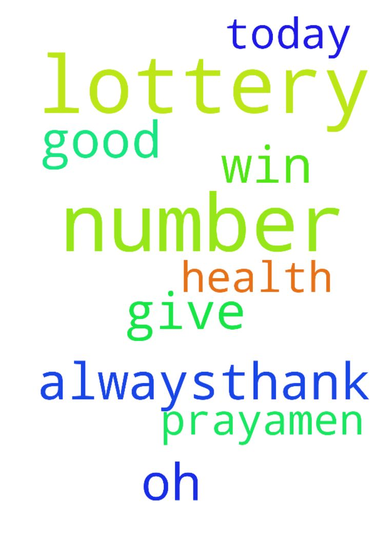 Lord Jesus, I pray to you that my lottery number will - Lord Jesus, I pray to you that my lottery number will win today. Give us oh lord a good health always,thank you. In Jesus Christ we pray,amen. Posted at: https://prayerrequest.com/t/AVZ #pray #prayer #request #prayerrequest