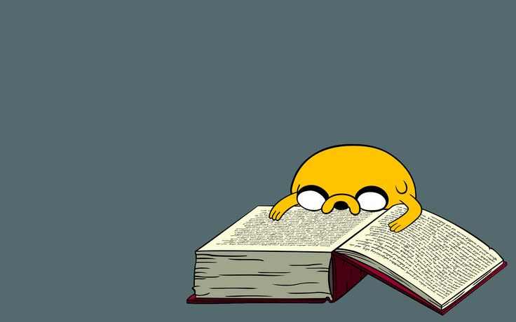 Hora de Aventuras.  Jake reader... :)