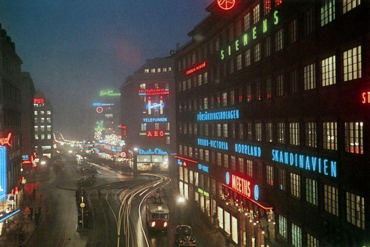 Kungsgatan, Stockholm 1950's