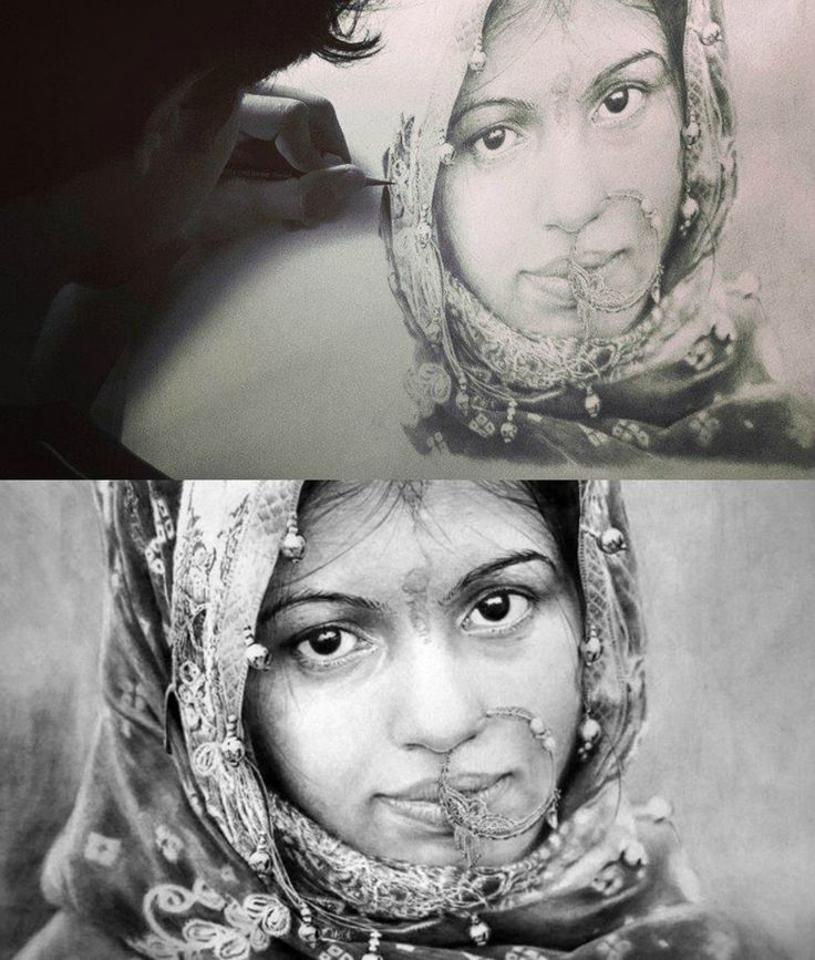 My pencil Drawing in 2014.. #hyperrealism #picture #photo #wip #mithilthaker #ahmedabad #photorealism #village #indian #portrait #face #woman #dress