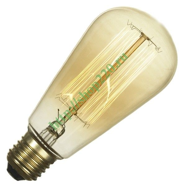 Ретро лампа груша FL-Vintage ST64 60W E27 220В  64х146мм