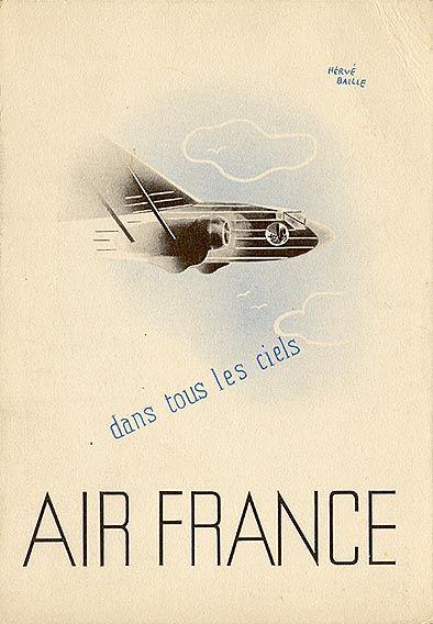 """Postcard """"Air France,"""" circa 1937"""