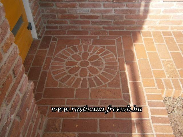 szeletelt tégla padlóburkolat - brick floor