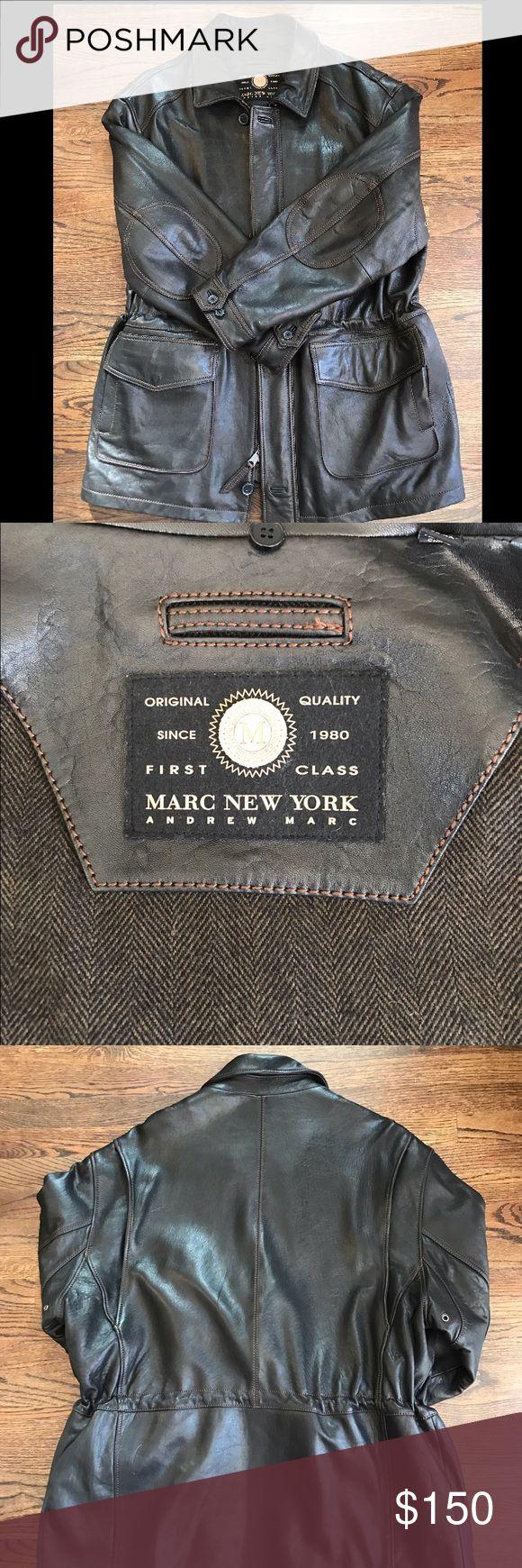 Andrew Marc of New York Leather Coat - XXL Gorgeous Men's Leather Coat- XXL - worn twice.  Amazing condition. Andrew Marc Jackets & Coats