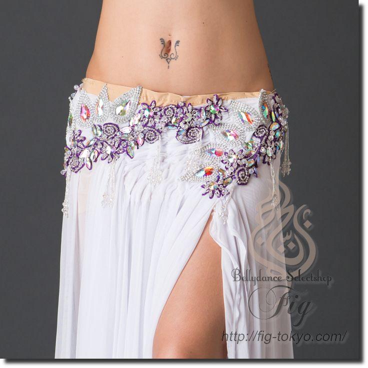 「ベリーダンス衣装・通販 Fig」で取り扱う商品「エジプト製 ベリーダンス衣装 一体型 / WhiteNude(20ya1607-54)」の紹介・購入ページ