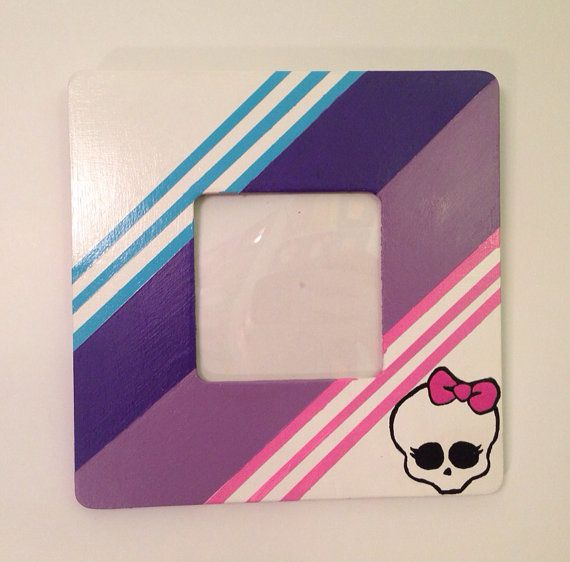 Abbey Bominable Monster High themed picture frame with protective cover on Etsy, $18.00