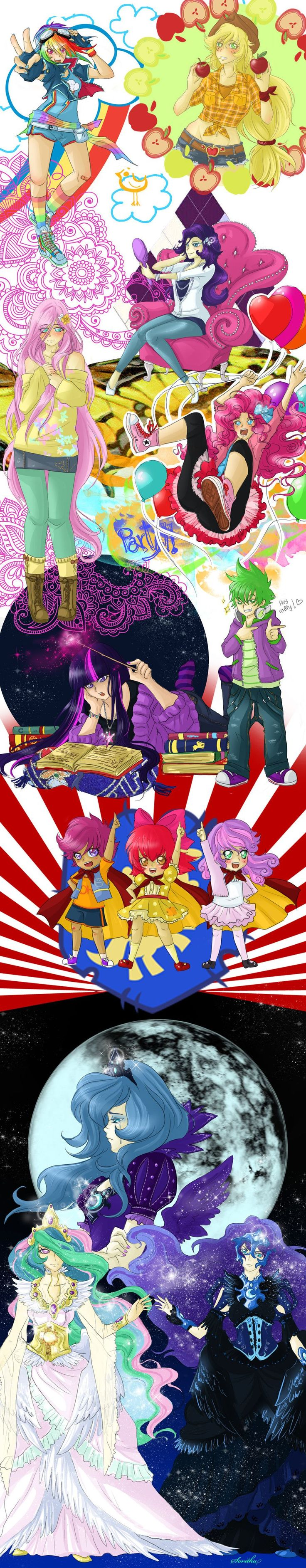 MLPFIM characters by Sparkly-Monster on deviantART